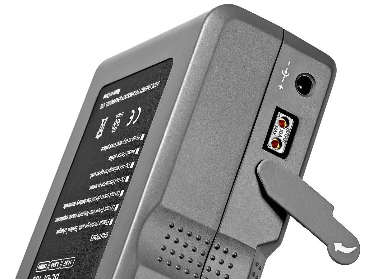 Strom kann zusätzlich über D-Tap und DC bezogen werden.