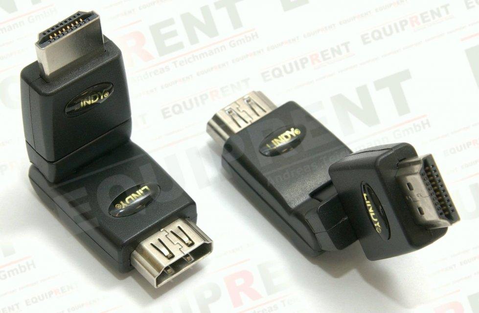LINDY Premium HDMI 360 Grad Winkel-Adapter Typ A/A Foto Nr. 1
