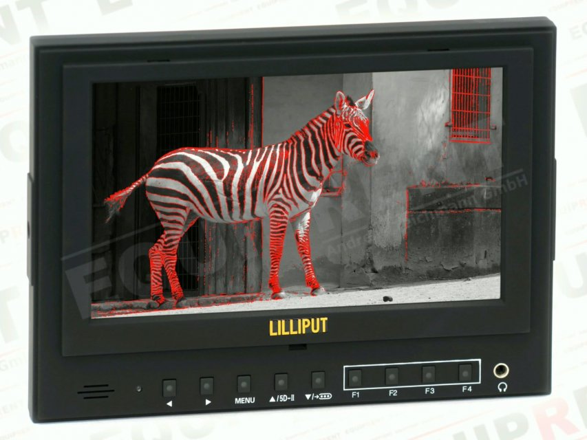 Lilliput 5D-II O/P: 18cm/7 Zoll TFT Monitor, 1024x600, Peaking.