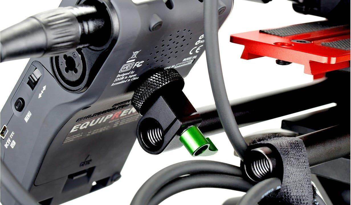 Audiorecorder montiert auf 15mm Rod.