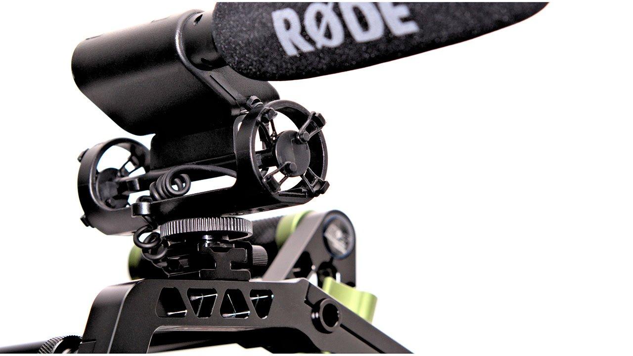 VideoMic montiert in Lanparte CA-01 Arm.