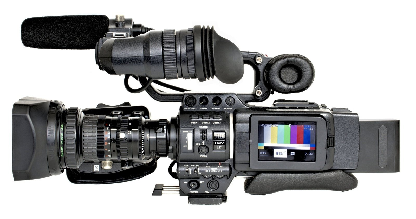 JVC GY-HD100 mit Beillen BL-V488 Akku.