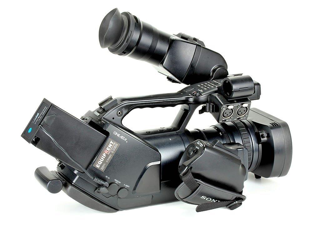 Sony EX3 mit BL-U95 Akku.