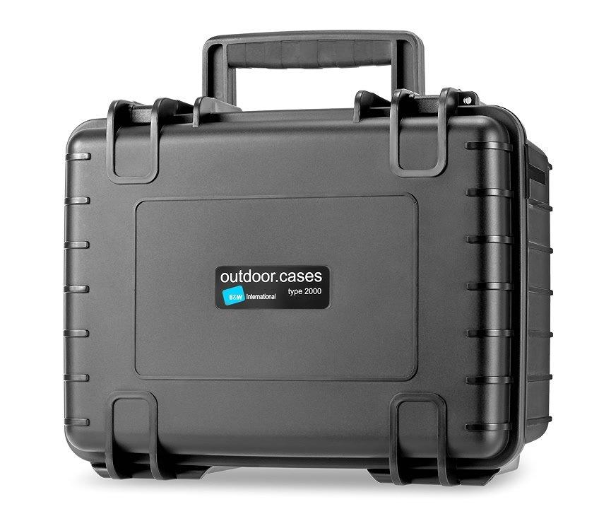 B&W type 2000/B schwarzer Koffer für Monitore oder Objektive (leer).