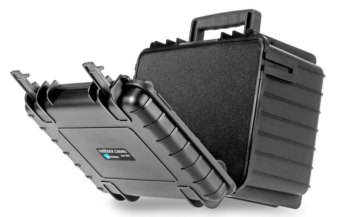 B&W type 2000/B/SI schwarzer Koffer mit Schaumstoffeinsatz.