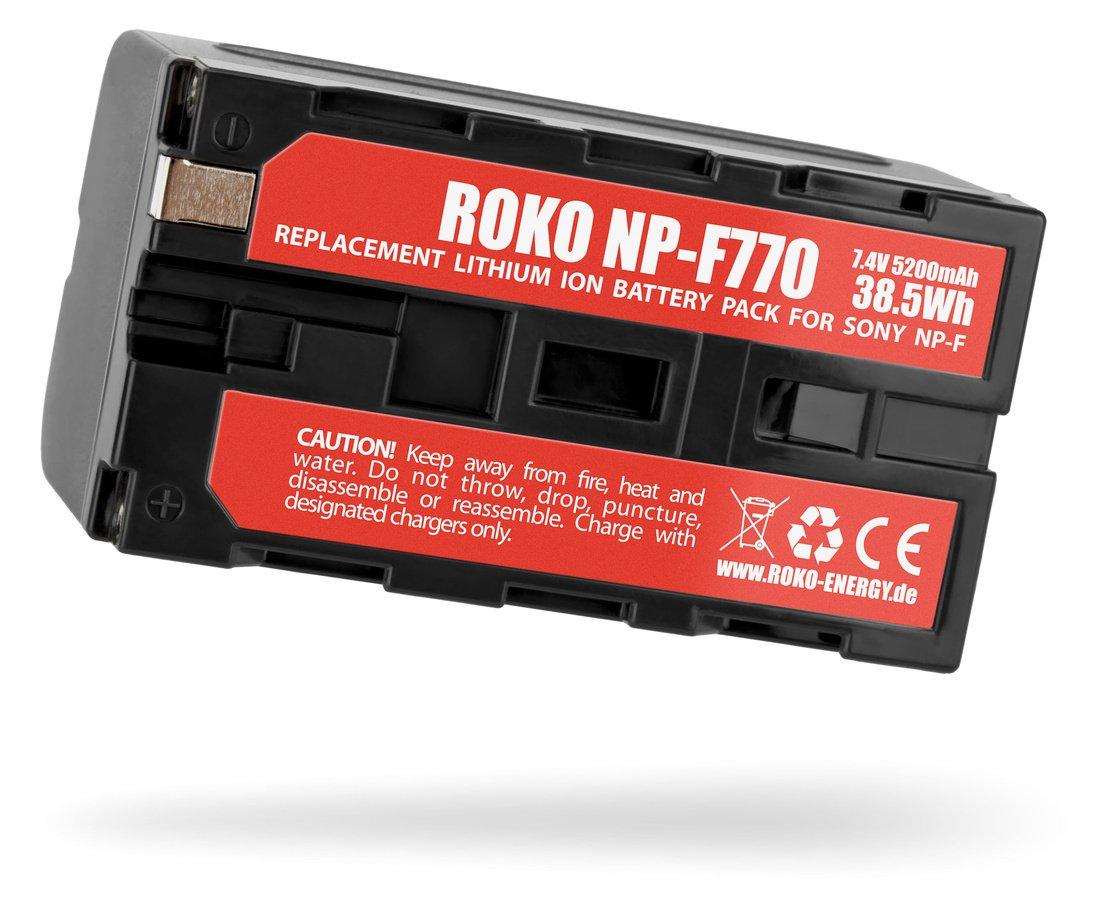 Unterseite ROKO NP-F770 Akku.