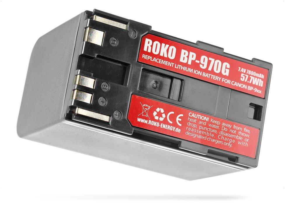Aufkleber des ROKO BP-970G Akkus für Canon BP-970G.