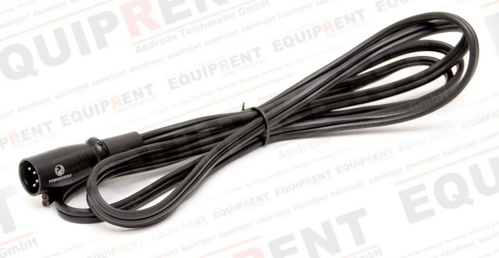 XLR 4-Pol Kabel mit Stecker (männlich) und offenem Ende / 200cm Foto Nr. 2