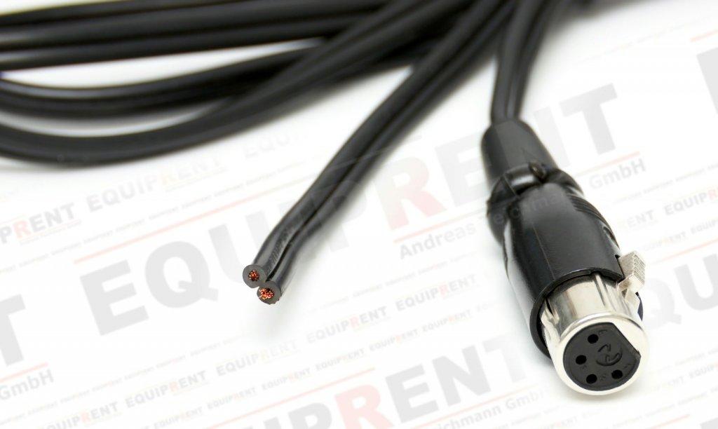 XLR 4-Pol Kabel mit Buchse (weiblich) und offenem Ende / 200cm Foto Nr. 1