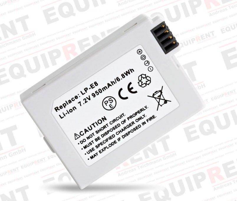 ROKO LP-E8 Ersatzakku für Canon LP-E8 mit 7.2V / 950mAh / 6.8Wh.
