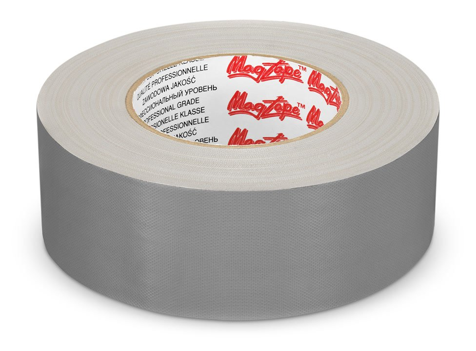 Gaffer Tape silbern liegend.