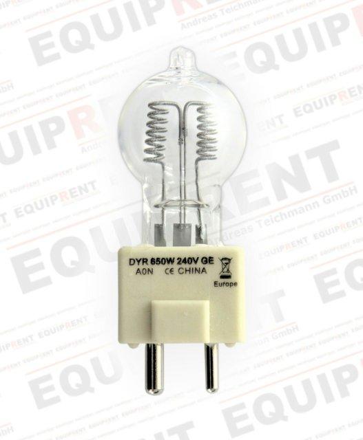General Electric 26895 / Quartzline DYR Brenner / 650W / 240V / GY9.5.