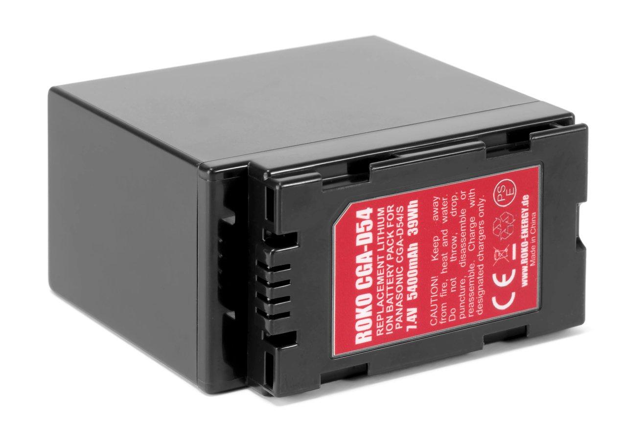 Der CGA-D54 Akku passt an zahlreiche Panasonic Camcorder.
