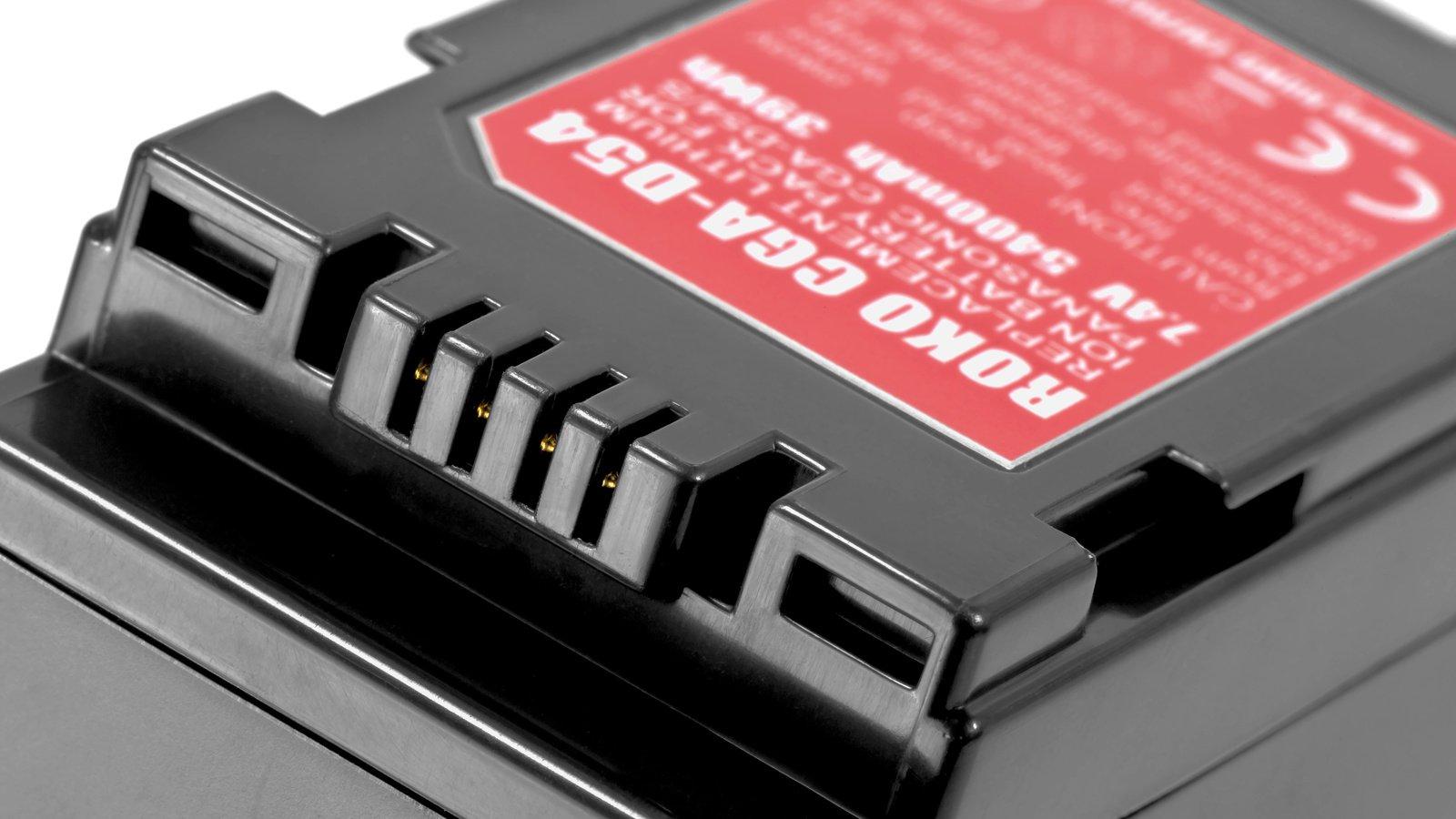 Die Kontakte des Akkus sind kompatibel mit CGA-D54 und CGA-D54S.