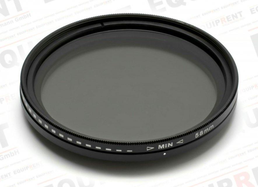 ROKO Slim Fader ND 58mm / Vari / Vario ND Filter (ND2-ND400) Foto Nr. 1
