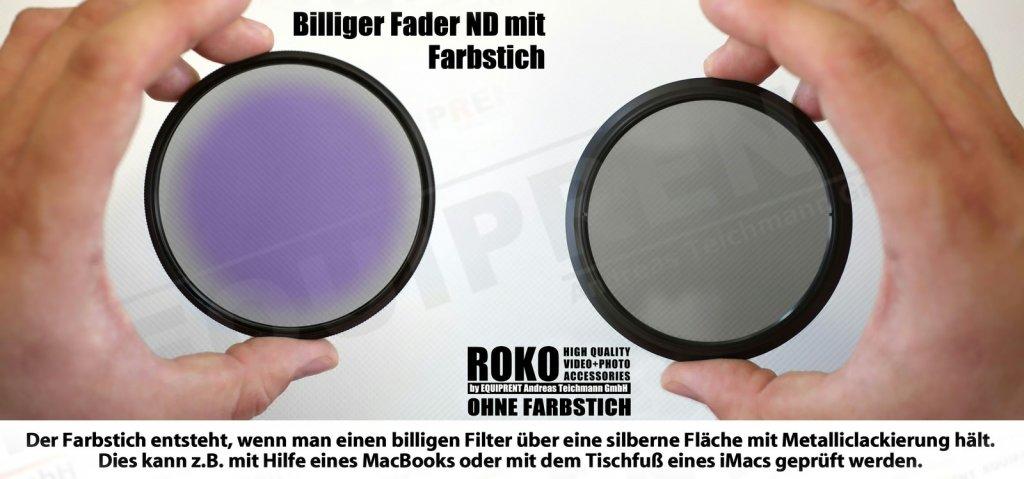 ROKO Slim Fader ND 58mm / Vari / Vario ND Filter (ND2-ND400) Foto Nr. 2