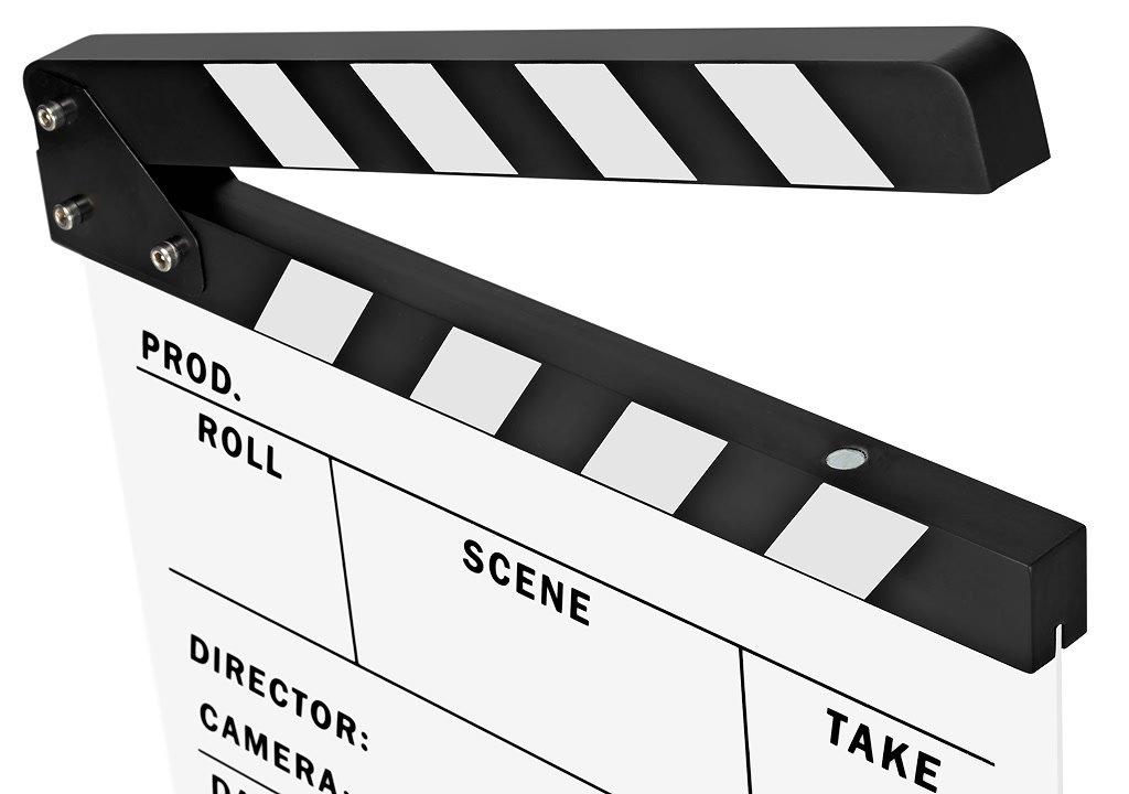 Filmklappe mit Magnetbefestigung.