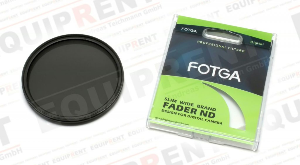 FOTGA Slim Fader ND 72mm / Vari / Vario ND Filter (ND2-ND400).