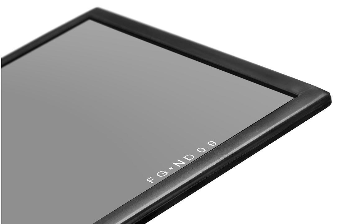ND 0.9 Filter mit schwarzem Rahmen.