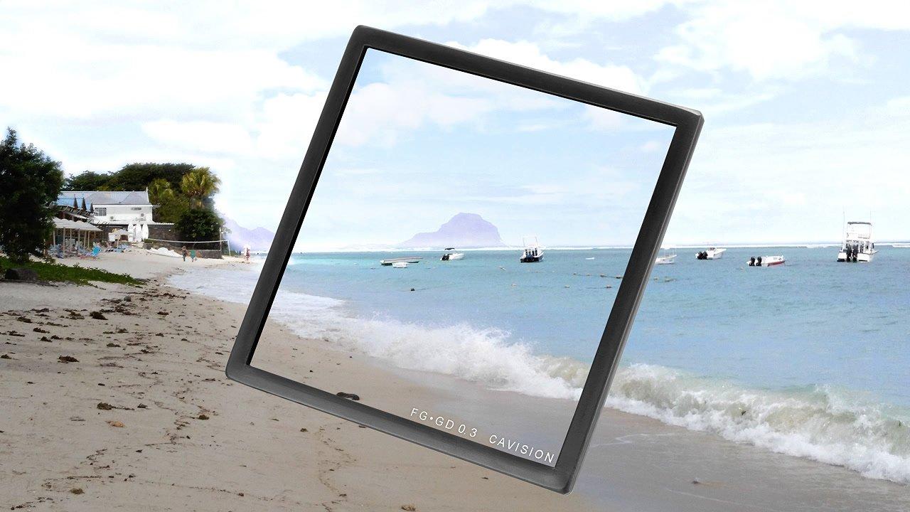 Anwendungsbeispiel Strand ND 0.3 Verlauf 4x4 Filter.