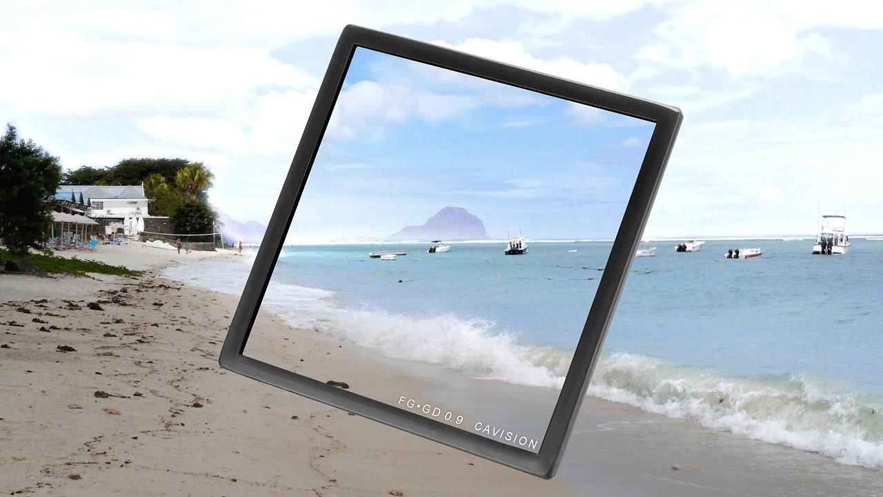 Anwendungsbeispiel Strand ND 0.9 Verlauf 4x4 Filter.