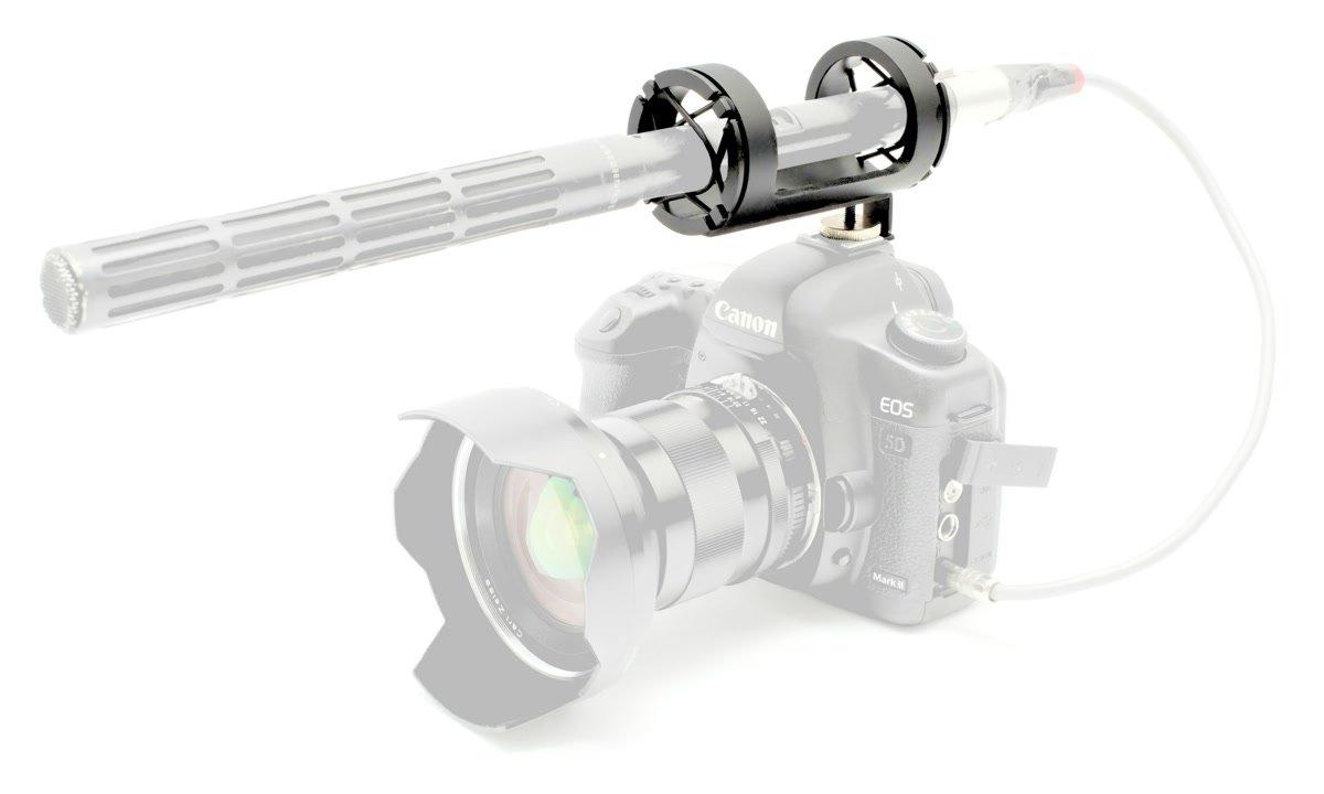 PROAIM entkoppelte Mikrofonhalterung / Mikrofonspinne für Blitzschuh.