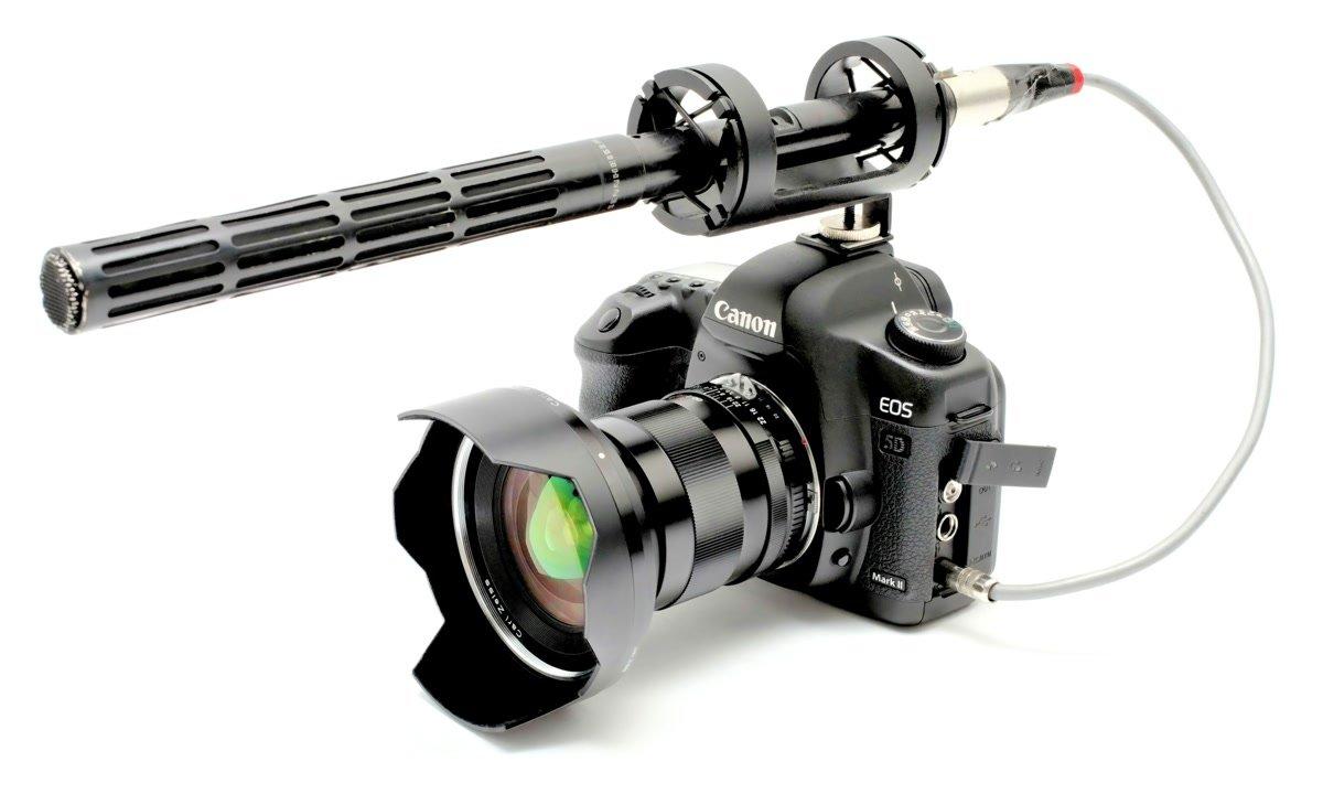 Sennheiser Richtmikro mit Canon 5D Mark II.