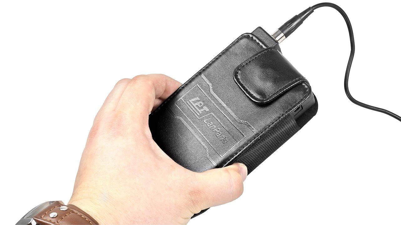 In der mitgelieferten Tasche ist der Akku optimal geschützt.