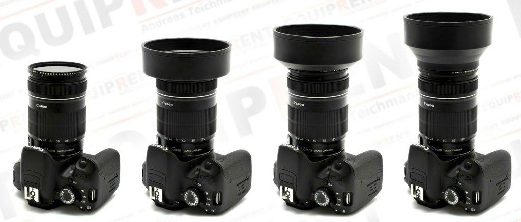 ROKO 3in1 flexible Gummi-Gegenlichtblende / Weitwinkel bis Tele / 52mm Foto Nr. 4