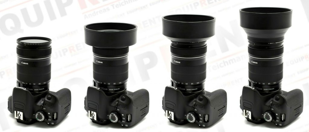 ROKO 3in1 flexible Gummi-Gegenlichtblende / Weitwinkel bis Tele / 58mm Foto Nr. 4