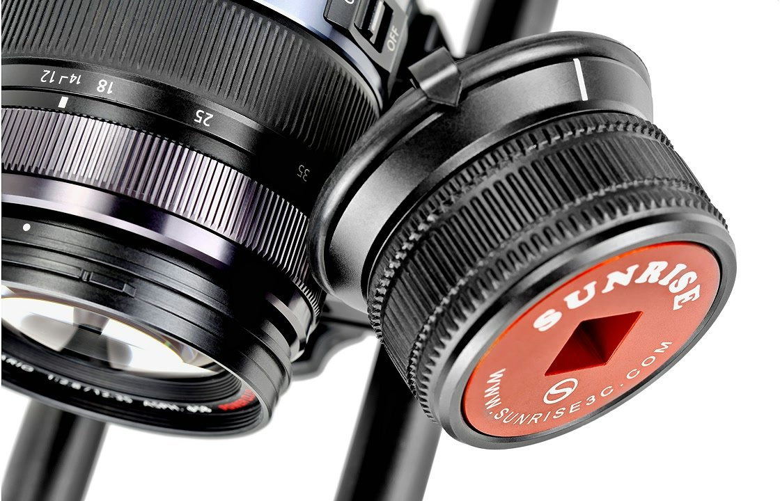 Panasonic 12-35mm Schärfering am Sunrise Friction Follow Focus.