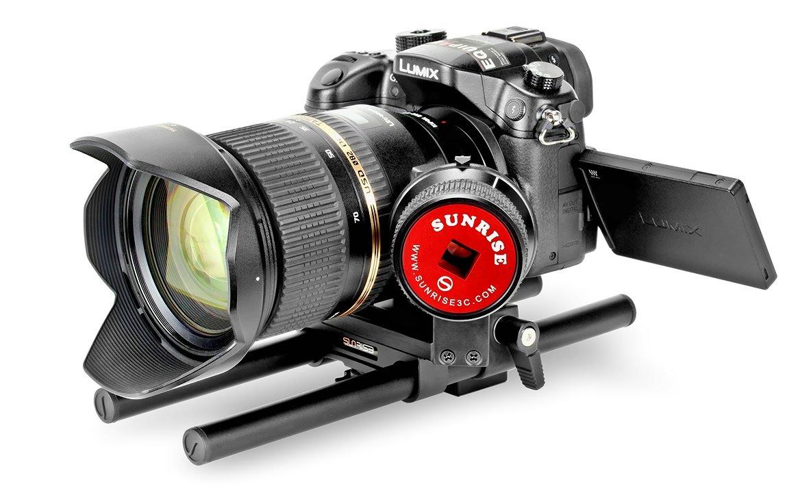 Panasonic GH4 mit adaptiertem Tamron Objektiv und Sunrise Friction Follow Focus.