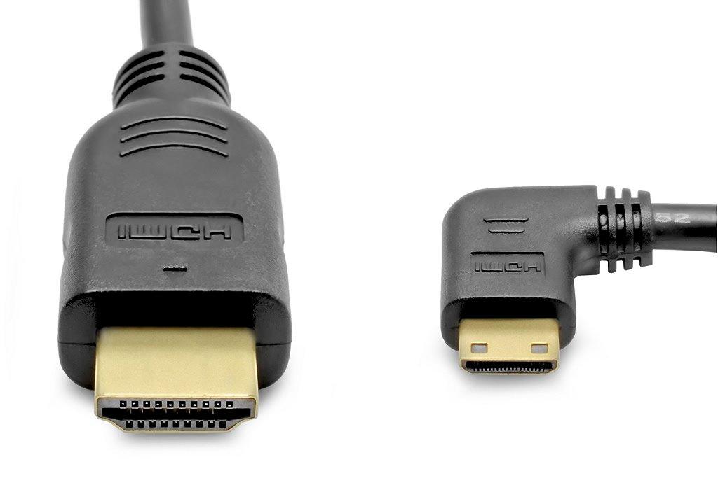 gewinkelter mini HDMI Stecker.