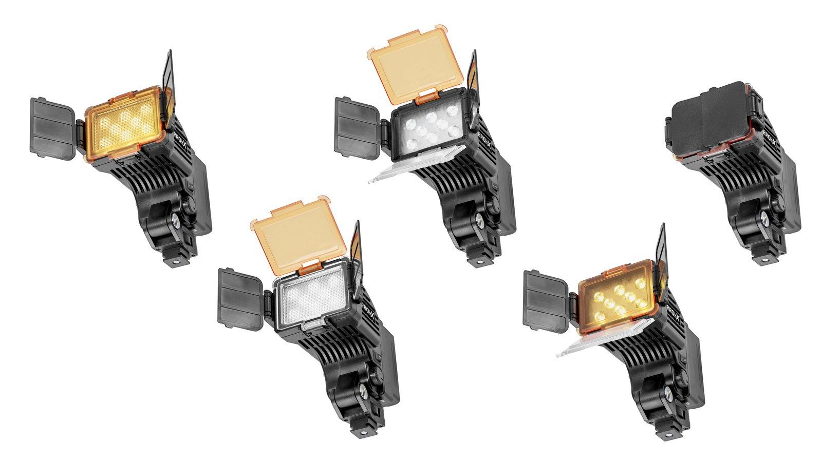 Pro-X COBRA S neigbare LED Kameraleuchte für Sony NP-F / D-Tap Foto Nr. 4