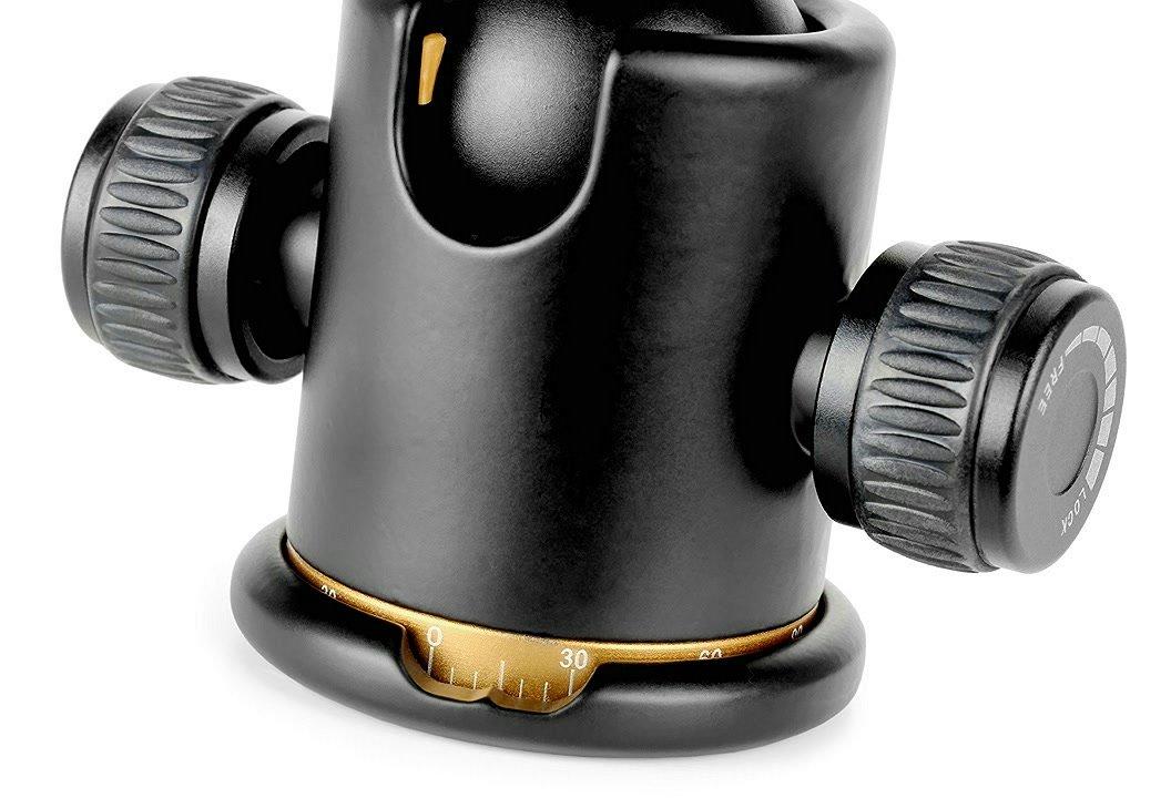 Gradskala für präzise Einstellung des ROKO BH36 Kugelkopfes.