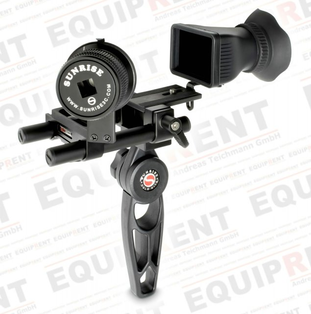 Sunrise HSR-606 Rig mit Griff + Baseplate + Follow Focus + Displaylupe.