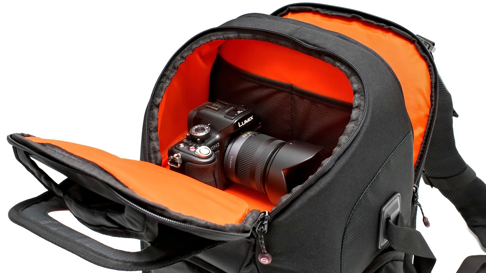 Im Rucksack gibt es zwei Hauptfächer und ein Notebookfach.