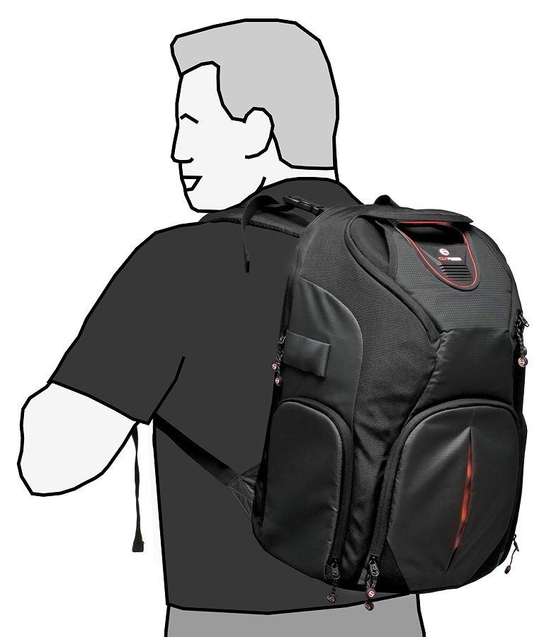 Der Rucksack wirkt nicht überdimensioniert.