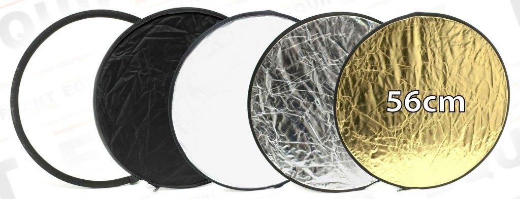 ROKO Reflektor 5 in 1 Weiss/Schwarz/Diffus/Gold/Silber (56cm).