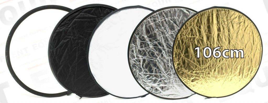 ROKO Reflektor 5 in 1 Weiss/Schwarz/Diffus/Gold/Silber (106cm).
