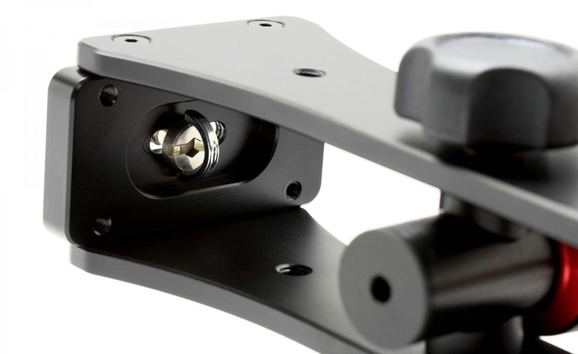 Stativschraube für Kameramontage.