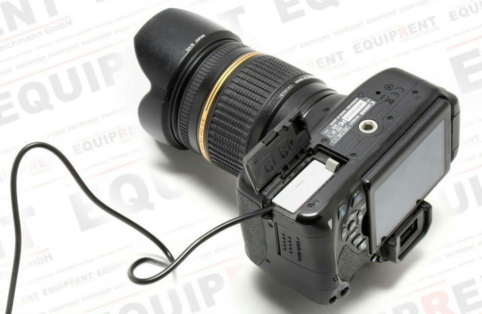 LP-E8 Akkudummy vom PB-600 Akkupack in Canon 650D.