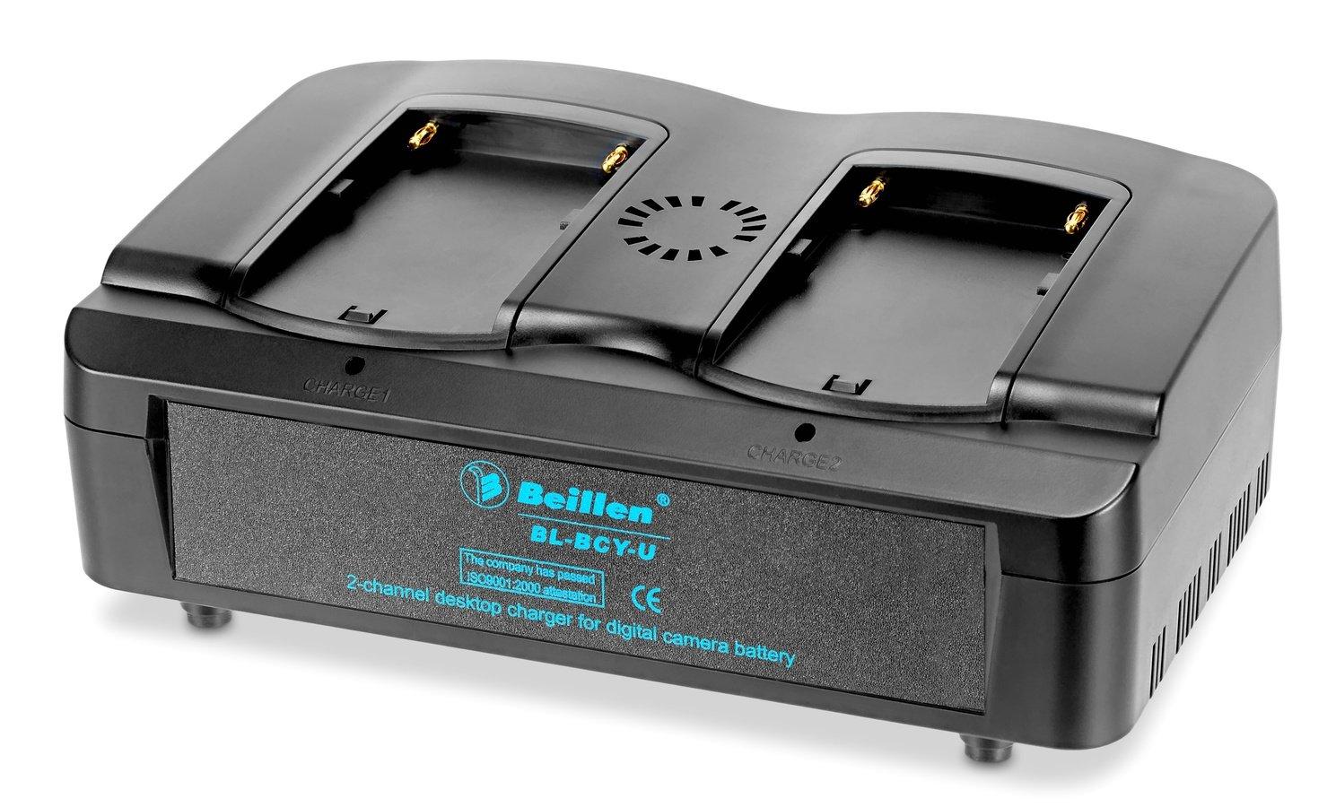 BEILLEN BL-BCY-U paralleles Schnellladegerät für Sony BP-U Akkus.
