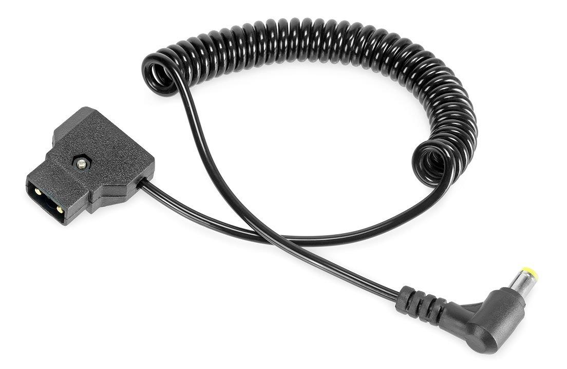 ROKO PT-202 D-Tap zu DC Stecker 5.5/2.1mm Spiralkabel (40-100cm).