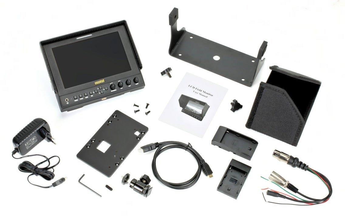 Lieferumfang Lilliput 663 O/P2 Monitor.
