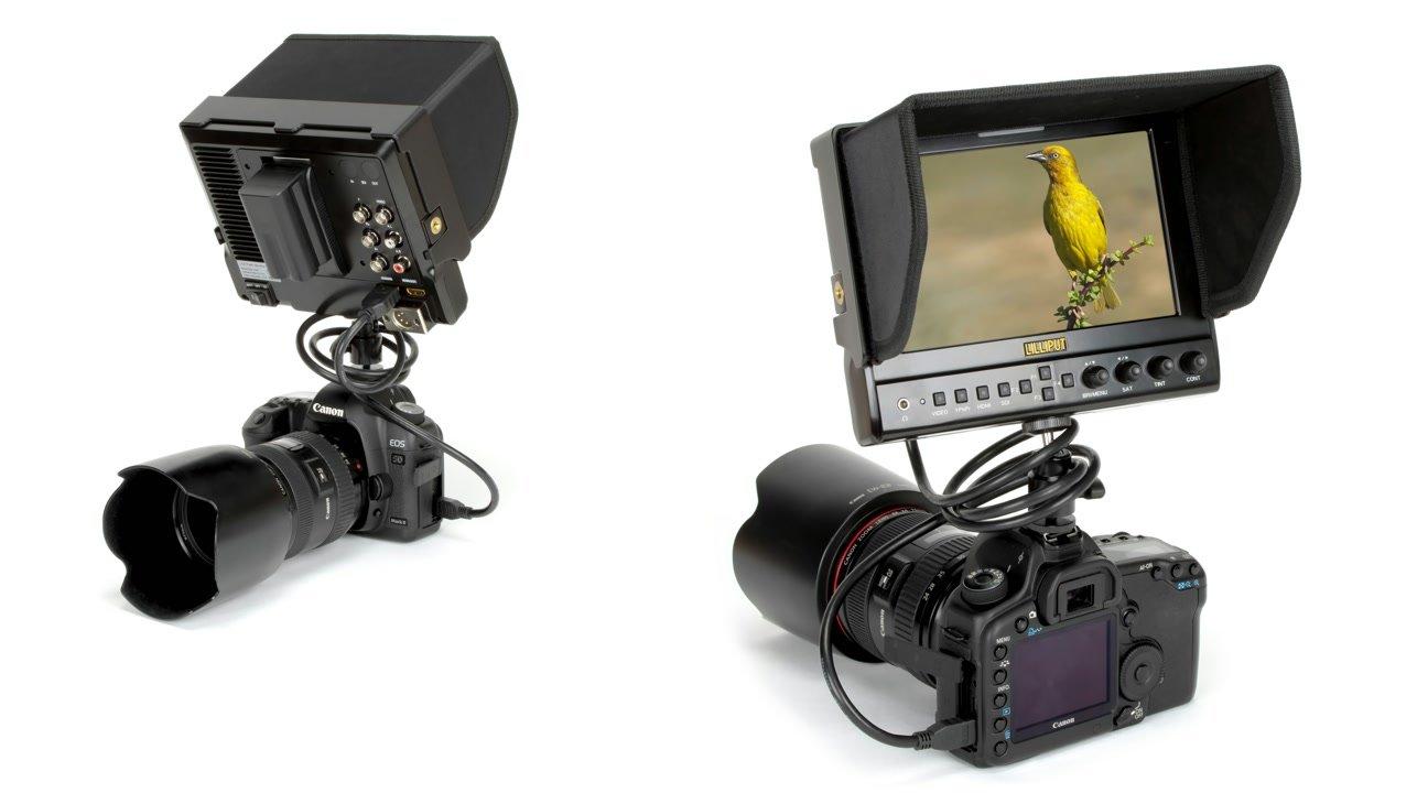 Canon 5D Mark II mit Lilliput 663 O/P2 Monitor.