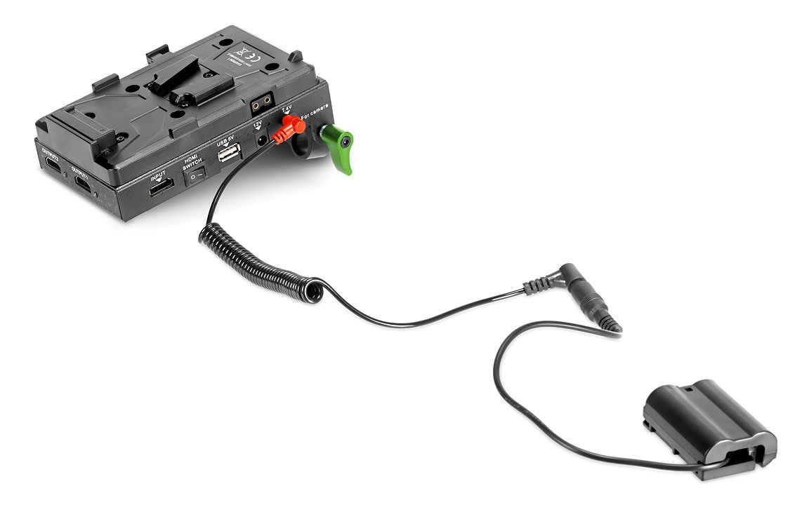 Lanparte VBP-01 Spannungswandler mit EN-EL15 Dummy.