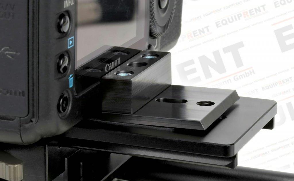 Nahaufnahme ROKO Antitwist-Platte mit Canon 5D.