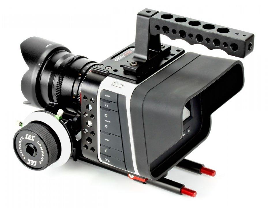 BMCC mit Sunrise HSR-611 Cage und Lanparte Follow Focus.