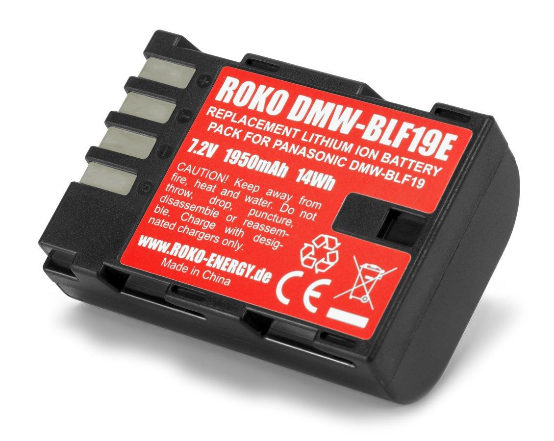 ROKO DMW-BLF19E Lithium Ion Akku für Panasonic GH3 GH4 GH5 (1950mAh / 14Wh) Foto Nr. 1